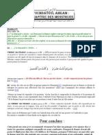 'Oumdatoul Ahkam -  Chapitre des menstrues 5