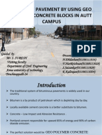 Design of Pavement by Using Geo Polymer