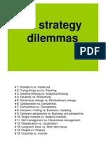 Strategy Dilemmas