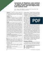 AJVR 2006 Flatulence of Dogs on Various Diets