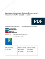 Landscape Indicators for Strategic Environmental Assessment - Issues to Consider