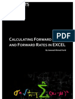Calculating Forward Prices Forward Rates in EXCEL TOC