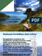 Sejarah Dan Pendidikan Alam Sekitar