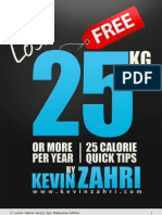 25 Calorie Savings Tips by kevin zahri