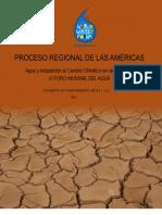 Cambio Climatico y Agua en Las Americas FORO Mundial Del Agua Marsella