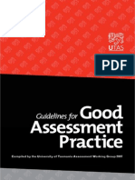 Guide for Good Assessment