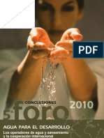 Conclusiones 5 FORO Fundacion CYII