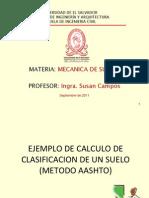 Ejemplo Clasificacion AASHTO