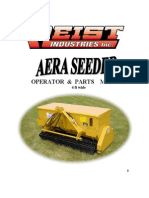 Campey - Raycam Aera Seeder 4ft Wide - Parts and Ops