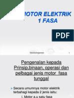 Motor Elektrik 1 Fasa