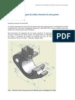 Aplicação de modelagem de sólido
