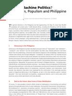 Reform Ism, Populism and Philippine Politics
