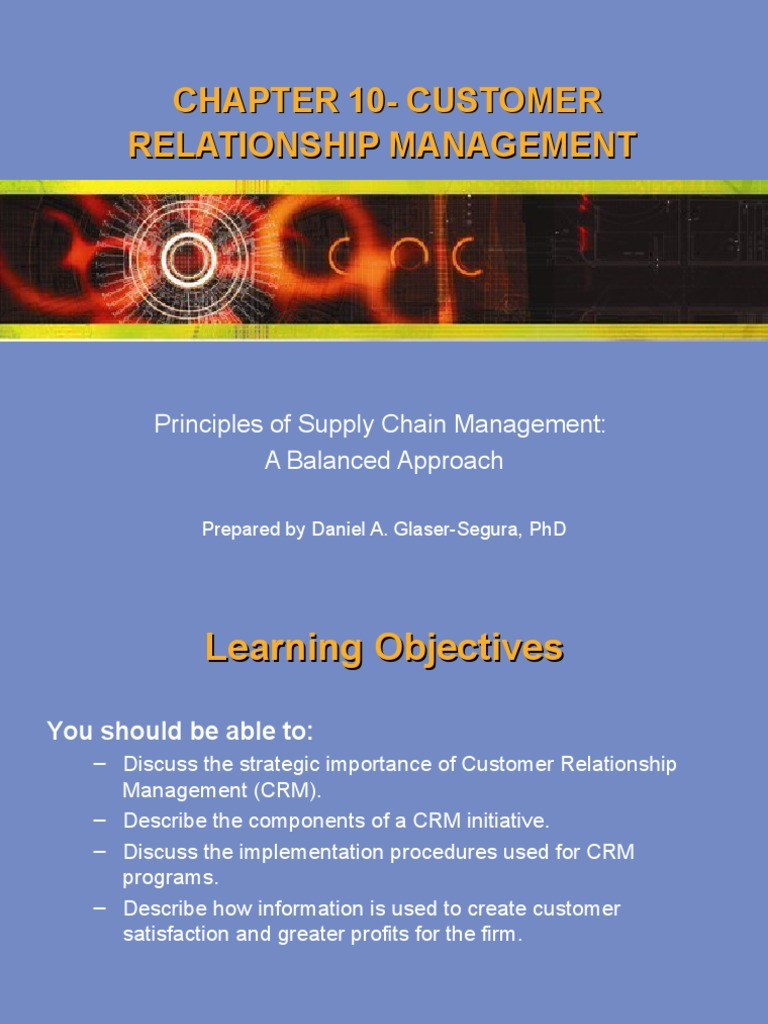 phd in customer relationship management