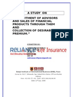 life insurance project on sales