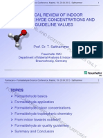 A Critical Review of Indoor Formaldehyde Concentrations Guideline Values by Tunga Salthammer