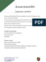 Programma Napoli Teatro Festival 2012