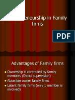 Entrepreneurship in Family Firms
