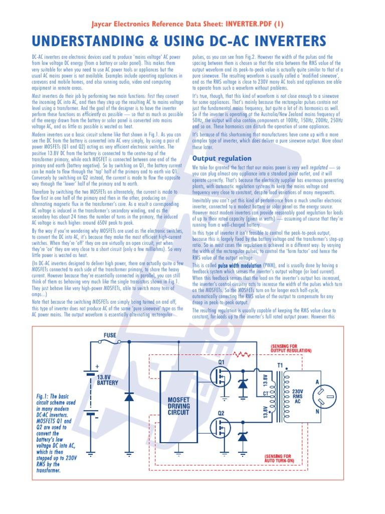 Power Inverter   Power Inverter   Mains Electricity