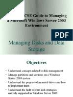 Managing & Main Tan Ing a Server 2003 Environment