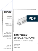 Craftsman Dovetail Template