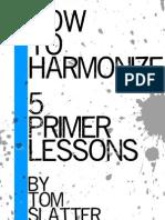 Tom Slatter - How to Harmonize PDF