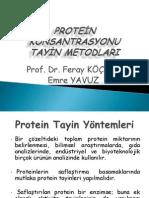 Protein Konsantrasyonu Tayin Metodları