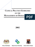 Clinical Practice Guidelines on the Management of Osteoarthritis 2002