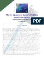 Alfa Dos Agonistas en Anestesia Pediatric A