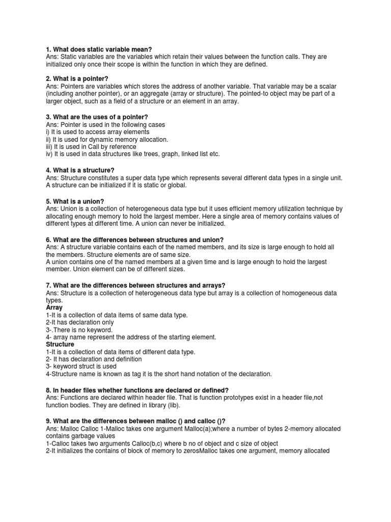 C faqs | Pointer (Computer Programming) | C (Programming