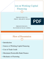 Presentation on Working Capital Financing