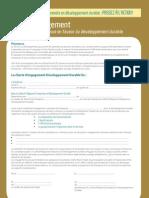 Charte de développement Durable Pour Les Entreprises _formulaire & Annexes INITIATIVESDD2008