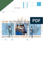 Choix Du Conducteur d'Opération Publique _guide MO FR2006