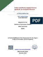 Monetary Policy and Money Supply Process-Aminul Islam