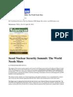 Vivek Kumar Srivastava Seoul Nuclear Security Summit the World Needs More Mainstream