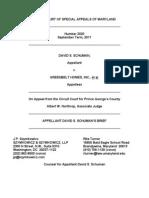 Schuman v. Greenbelt Homes - Appellant's Brief
