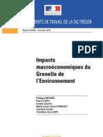 DG Trésor_impacts macroeco Grenelle