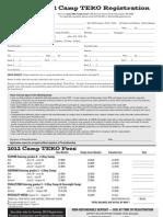 2012 Camp TEKO Registration Form