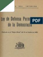 Ley Defensa Permanente Democracia