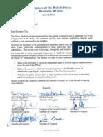 Napolitano et al -- Letter to Secretary Chu -- 4-26-2012