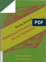 Simmel, Georg - Problemas fundamentales de la filosofía