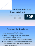 History of the Americas IB Mexican Revolution 1910-1940