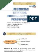 02-03-12 - INFLUÊNCIAS INTERNAS - PARTE 1 - ENVOLVIMENTO E PERCEPÇÃO