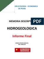 MEMORIA HIDROGEOLOGICA 2x