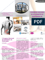 Tríptico  I Congreso Nacional de Estudiantes de Fisioterapia