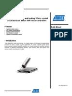 Selecting and Testing 32kHz Crystal Oscillators - Doc8333
