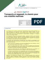 Transport, énergie & écomobilité _note NEGAWATT2003