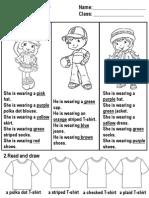 CLOTHES (worksheet)