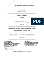 Schuman v. Greenbelt Homes - Record Extract Volume 2 of 4