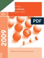 Ks3 Science 2009 Marking Scheme