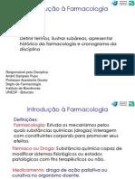 Aula 01 - Introdução à Farmacologia